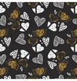 golden seamless pattern with image tribal vector image vector image