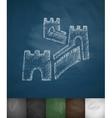 Great Wall of China icon Hand drawn vector image vector image