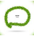 green grass speech bubble vector image vector image