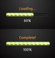 Green progress bars vector image
