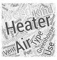 greenhouse heater Word Cloud Concept vector image vector image