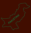 grunge map of pakistan with pakistanian flag vector image vector image