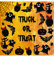halloween watercolor background vector image