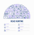 head hunting concept in half circle vector image vector image