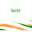 independence day of india watercolor sign on white vector image