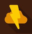 lightning flash light thunder spark on background vector image vector image