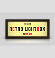 marquee retro lightbox signage template vector image