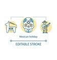 mexican holiday concept icon pinata calavera vector image