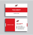 minimal business card print template design red vector image