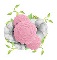 natural camellia concept background cartoon style vector image