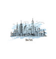 new york drawing hand drawn vector image