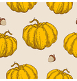 Pattern with orange pumpkin vector image vector image