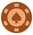peaks suit copper casino chip vector image vector image