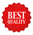 red wax seal with best quality text vector image