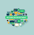 return on investment vector image