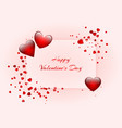 romantic banner with hearts vector image vector image