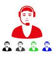 sad call center guy icon vector image vector image