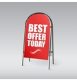 Sandwich board with an inscription Best offer vector image vector image