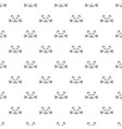 seamless pattern with cat faces on white vector image vector image
