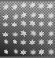 set of blur snowflakes isolated eps 10 vector image