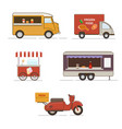 set street food transport vector image