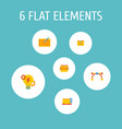 Set website development icons flat style