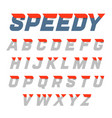 speedy style dynamic alphabet vector image vector image