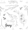 Spring Elements pattern vector image vector image