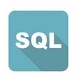 Square SQL icon vector image vector image