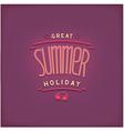 Summer retro lettering design vector image
