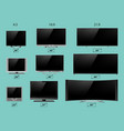 tv screen lcd monitor template electronic device vector image vector image