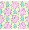 Unicorn pattern spring vector image vector image