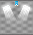 white spotlight light effect on transparent vector image