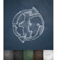 world logistic icon Hand drawn vector image vector image