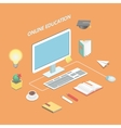 Online education e-learning science Isometric vector image