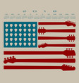 2018 calendar with an american flag vector image