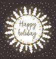 card with christmas trees vector image