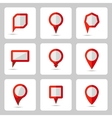 pointer red icons set various forms vector image