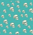 human skull seamless pattern background vector image