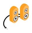 Computer speaker icon cartoon style vector image