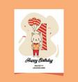1st birthday party invitation card with cartoon