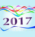 2017 ribbon and confetti party vector image vector image