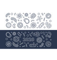 2020 viruses concept outline banners vector image