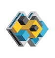 Abstract Geometric Icon vector image vector image