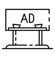 ad city billboard icon outline style vector image vector image
