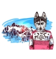 animals in mountains vector image vector image