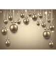 Arc background with golden christmas balls vector image vector image