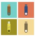 assembly flat icon flash drive vector image vector image