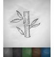 bamboo icon Hand drawn vector image vector image