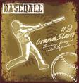 baseball classic sport vector image vector image